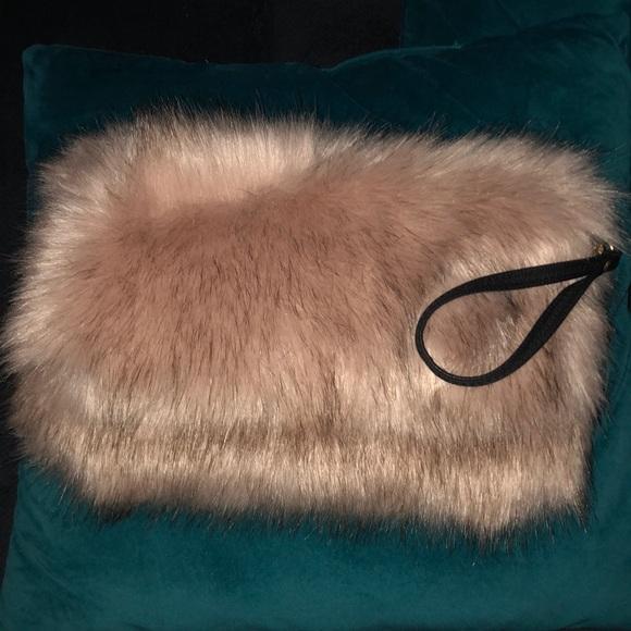 Forever 21 Handbags - Woman Fuzzy Clutch, Wristlet,